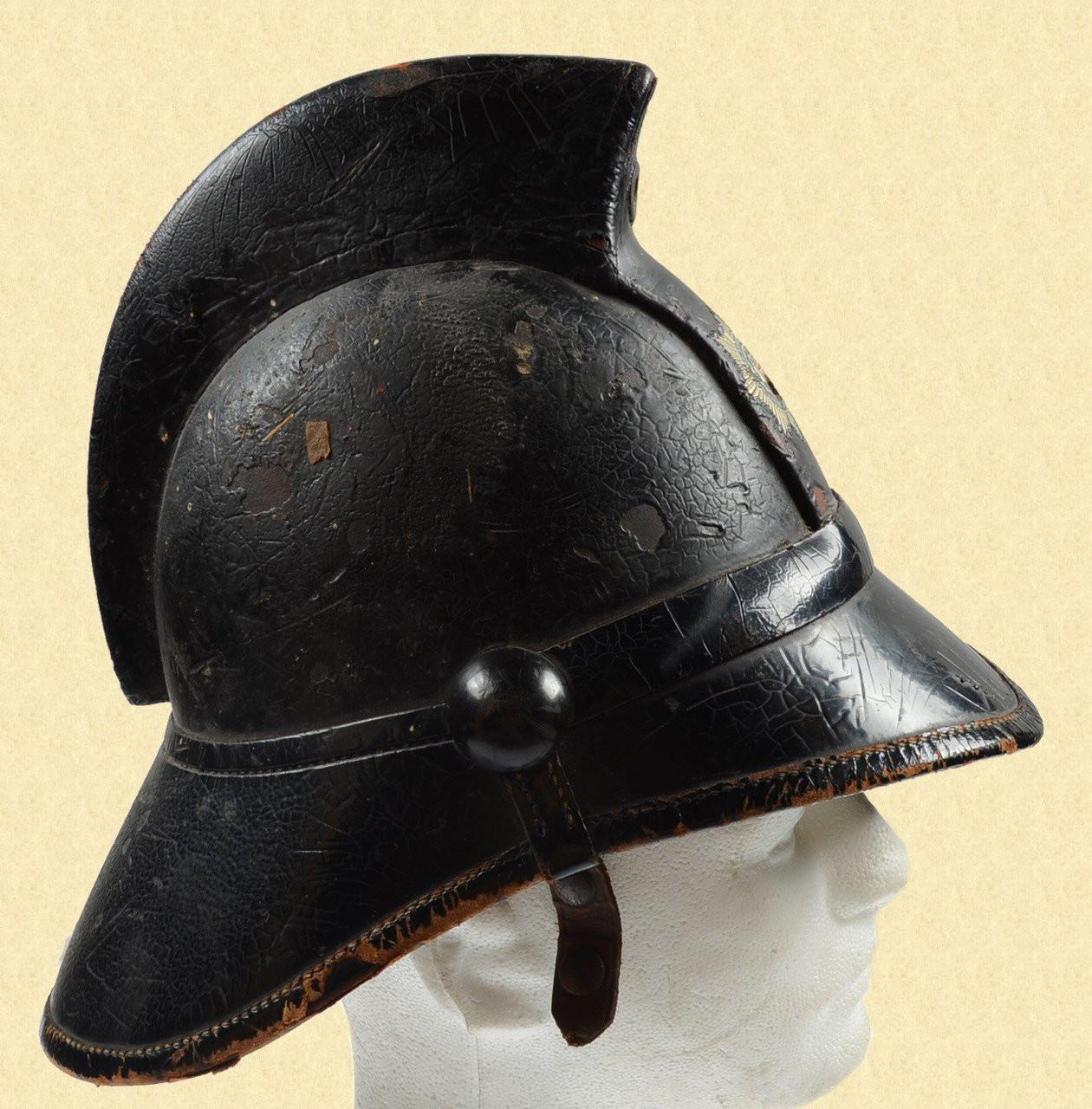 BRITISH LEATHER FIRE HELMET - C19015