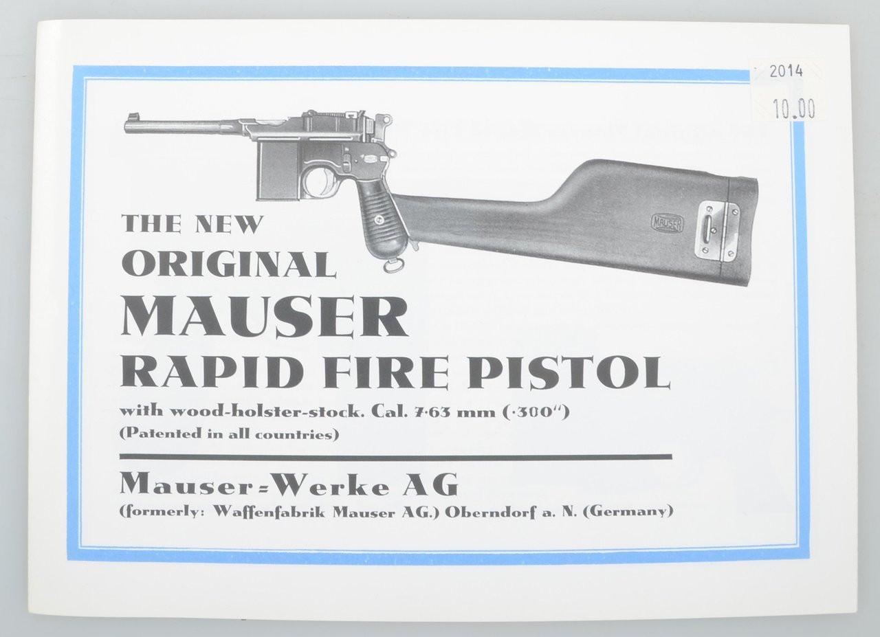 The Original MAUSER RAPID FIRE PISTOL