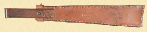 WWII ERA LEATHER KNIFE/MACHETE SCABBARD - C16836