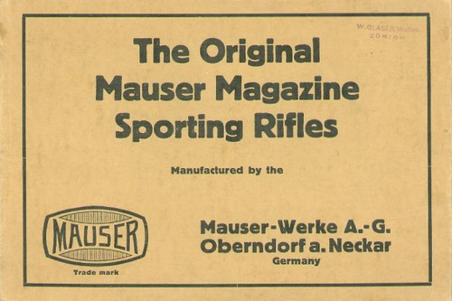 THE ORIGINAL MAUSER MAGAZINE SPORTING RIFLES - M1426