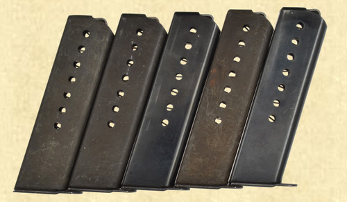 WALTHER LOT OF 5 POST WAR P.38 MAGAZINES - C42808