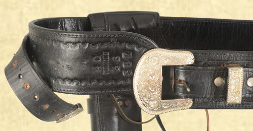 MEXICO DUAL HOLSTER LEATHER GUNBELT - C43517