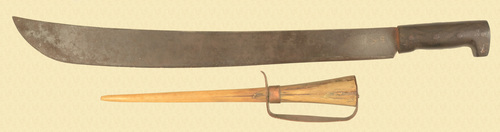 U.S. WW II MACHETE & KNIFE - C43782