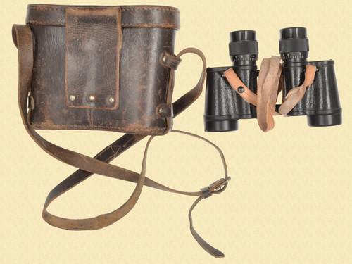 HUNGARIAN POSTWAR 8X30 BINOCULARS WITH CASE - M7591