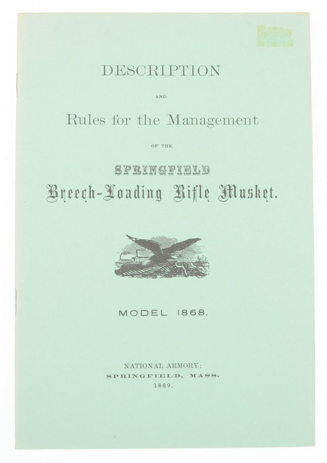 Springfield Breech-Loading Rifle Musket Model 1868 - K1533