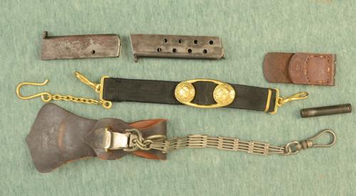 GERMAN WW II BELT BUCKLE TAB + MISC - C44544