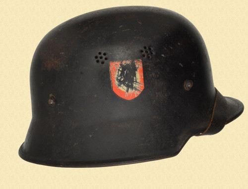 GERMAN M34 DOUBLE DECAL FEUERSCHUTZPOLIZEI HELMAT - C45201