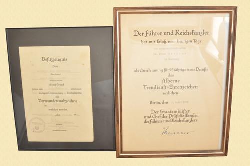 GERMAN FRAMED DOCUMENTS - C45682