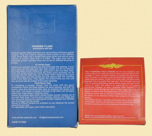 PEDERSOLI POWDER FLASK & CANNON - C46086