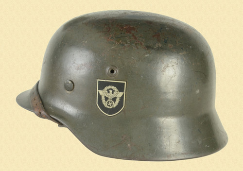 GERMAN M-40 Double Decal Police Helmet - C48035