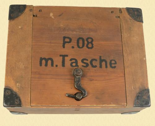 GERMAN MIL MARINE LUGER/HOLSTER BOX W/ HOLSTER - C46921