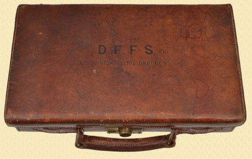 GERMAN LEATHER CASE FOR 2 LUGERS - C48235