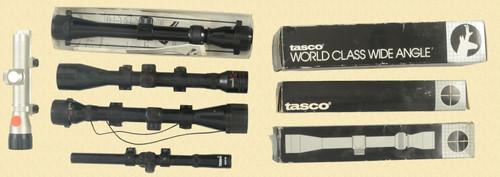 TASCO RIFLE SCOPE LOT OF 7 - M7971