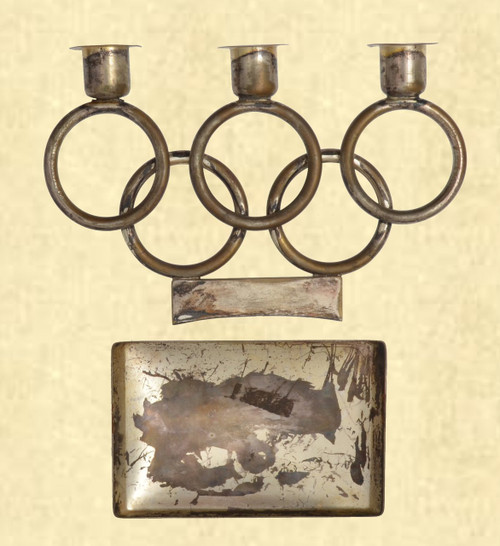 1936 OLYMPIC COMMEMORATIVE CANDLE HOLDER - C41632