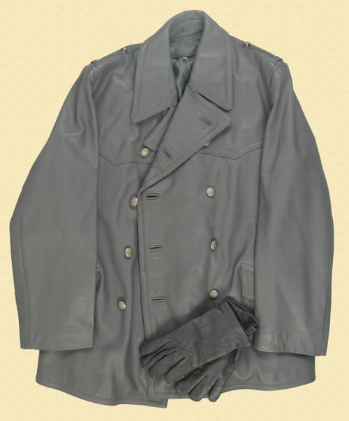 GERMAN GRAY LEATHER JACKET - C30723