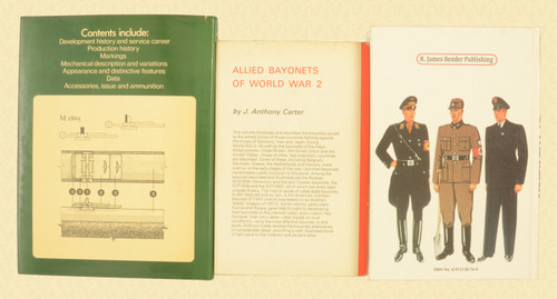 BOOKS COLLECTORS BAYONETS LOT OF 3 BOOKS - C30858