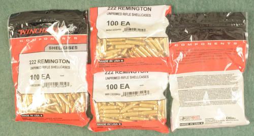 WINCHESTER 222 REMINGTON BRASS - C31071
