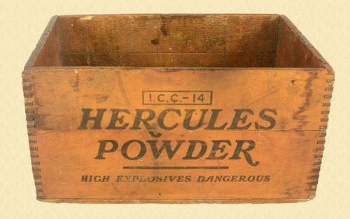 HERCULES POWDER WOODEN SHIPPING CRATE - C31347