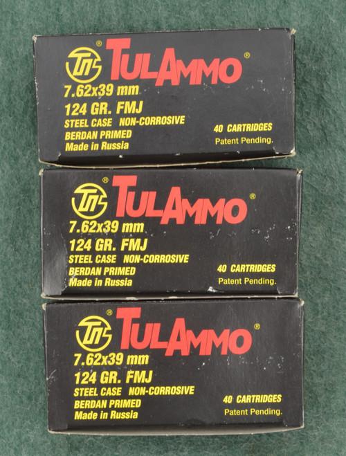 TUL AMMO 7.62X39MM CARTRIDGES - C31841