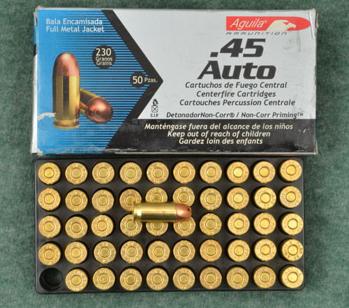 AGUILA .45 AUTO  AMMUNATION LOT OF TWO - C32275
