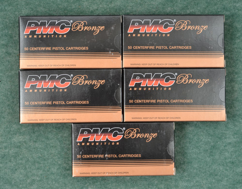 PMC 9 MM LUGER 124 GRS.  5 BOXES - C32276