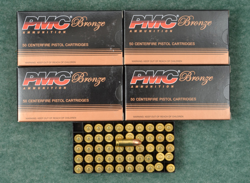PMC 9 MM LUGER 124 GRS.  5 BOXES - C32277