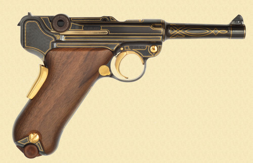MAUSER P.08 SPECIAL ORDER GOLD LINE INLAY - D16116