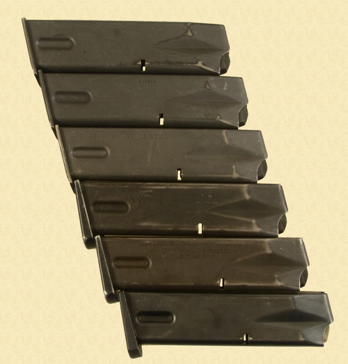 MAGAZINES BERETTA MODEL 92  LOT OF 6 - C32331