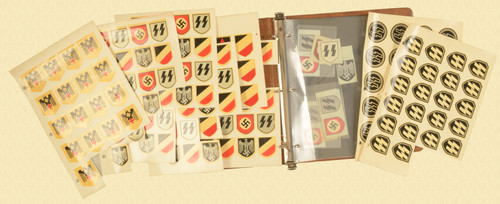 NAZI HELMET REPRO DECALS & CONFED BATTLE FLAG - C32571