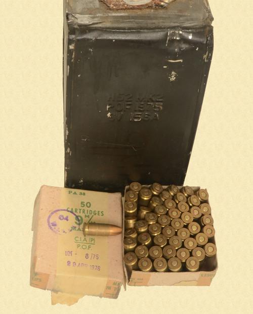 AMMUNITION LOT OF 12 50 RND BOXES 9MM - C48942