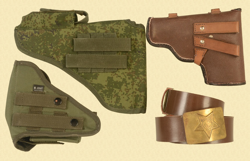 RUSSIAN LOT OF ASSORTED RUSSIAN HOLSTERS - C33469