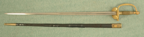 FRENCH U.S. CIVIL WAR SWORD WITH SCABBARD - C33748