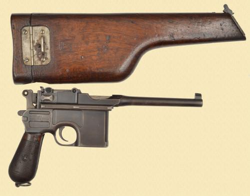 MAUSER AUSTRIAN M1896/12 W-STOCK/HOLSTER - C49446