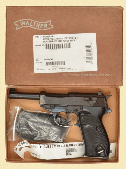 WALTHER P.38 PORTUGUESE CONTRACT - D32362