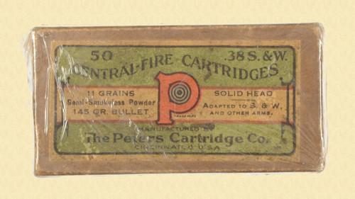PETERS 38 S&W CARTRIDGE BOX - C23481