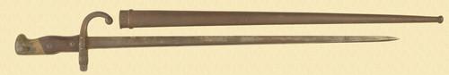 FRENCH MODEL 1877 BAYONET  & SCABBARD - C49836