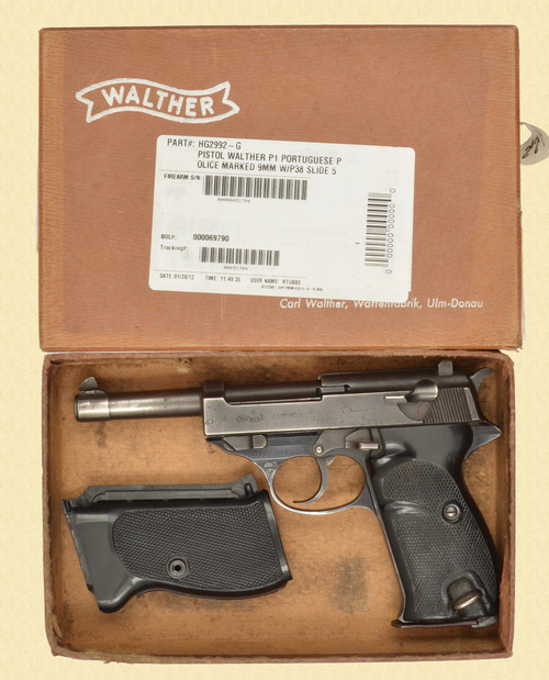 WALTHER P.38 PORTUGUESE CONTRACT - D32364