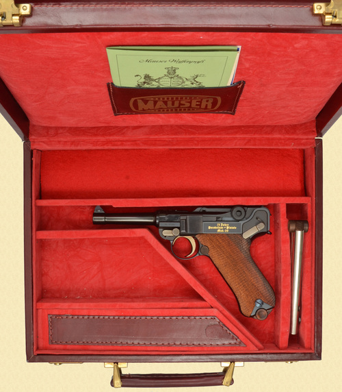 Mauser CASED P.08 75 YEAR COMMEMMORATIVE LUGER - Z51106