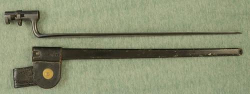 US M.1855/70 MUSKET RIFLE BAYONET W SCABBARD - M8851