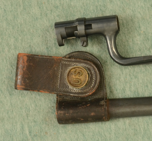 US M.1855/70 RIFLE-MUSKET BAYONET W SCABBARD - M8852