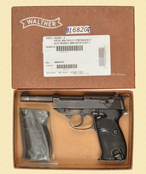 WALTHER P.38 PORTUGUESE CONTRACT - D32369