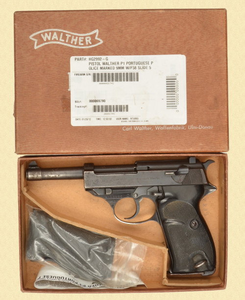 WALTHER P.38 PORTUGUESE CONTRACT - D32371