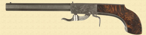 ENGLISH PERCUSSION UNDERHAMMER PISTOL - M3839