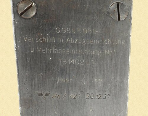 GERMAN WW2 98 MAUSER RIFLE BOLT GAUGE - C23998