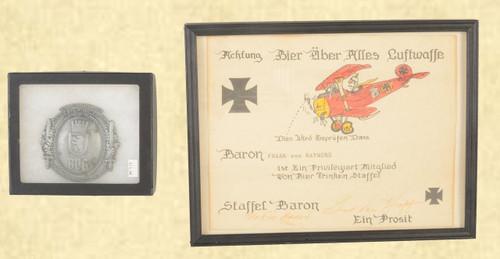 "MEDAL OF BVG, ""GAG"" RED BARON AWARD - C41680"
