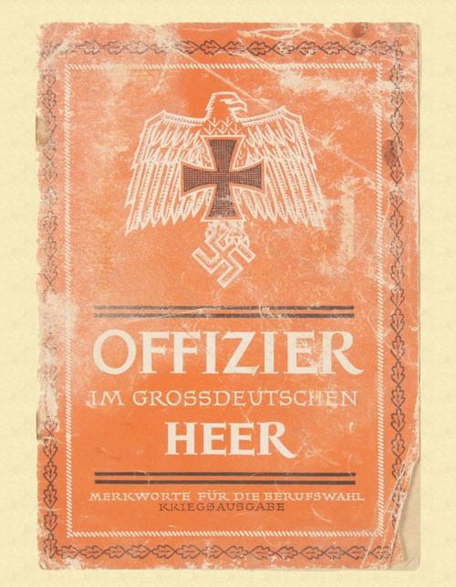 GERMAN OFFICERS BROCHURE - C10808