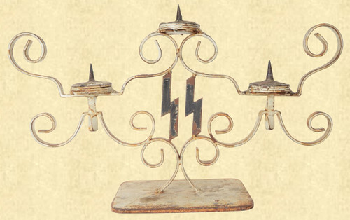 """3 CANDLE """"SS"""" CANDELABRA - C41649"""