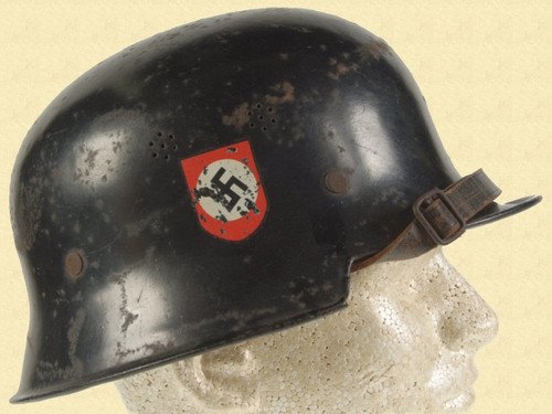 GERMAN WW2 FIRE POLICE HELMET - M2503
