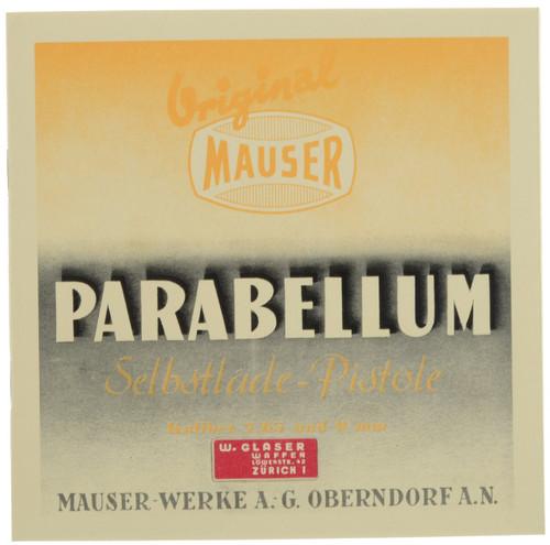 PARABELLUM Selbstlade-Pistole Parabellum