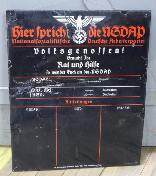 GERMAN NSDAP SIGN - C13787